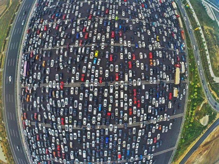 horrifying beijing traffic jam 2